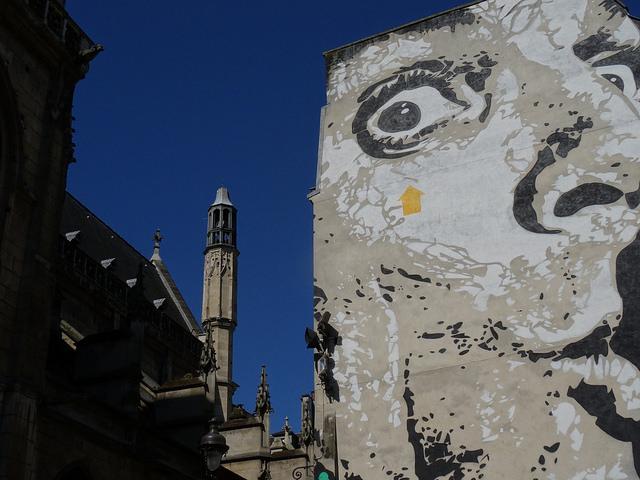 Street art a Parigi - Jef Aérosol Chuut!