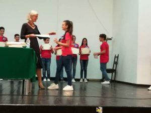 premiazione AMOPA - premiazione alunna