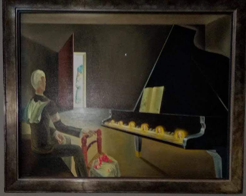 Surrealismo Dalì Sei apparizioni di Lenin su un pianoforte