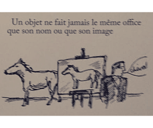 Surrealismo Magritte Les Motes e les Images - Cheval