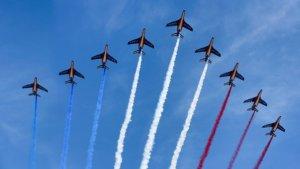 14 Julliet fleches tricolores pour la defence militaire